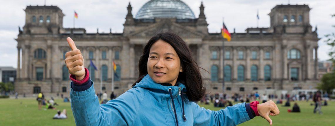 Dr. Jiehua Chen vor dem deutschen Bundestag