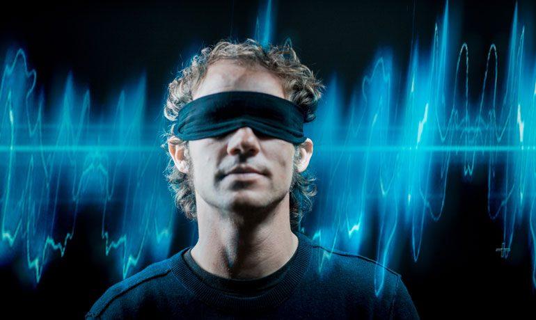 """""""Sehen durch Hören"""" – mit etwas Training können sich blinde Menschen gut im Raum orientieren."""