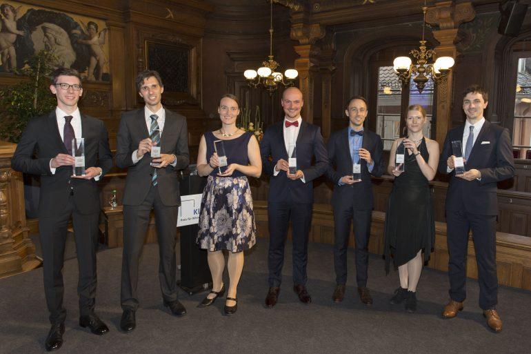 Die Preisträgerinnen und Preisträger des KlarText-Preises für Wissenschaftskommunkation 2017