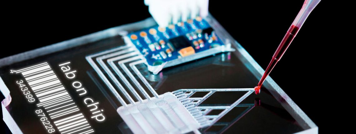 Im Labor der Zukunft strömen die Proben durch Kanäle, die dünner als das menschliche Haar sind