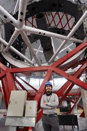 Oliver Müller will seine Analyse von Zwerggalaxien systematisch ausweiten. Dazu wird er das Gran Telescopio Canarias (im Bild) auf La Palma nutzen. Mit einem Durchmesser von 10,4Metern ist es das größte optische Teleskop der Welt